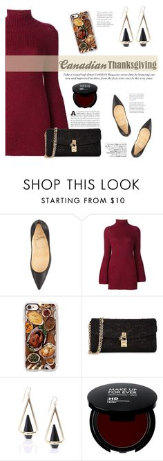 """Happy Canadian Thanksgiving!"" by katsin90 ❤ liked on Polyvore featuring Christian Louboutin, Rosetta Getty, Casetify, Dolce&Gabbana and Avenue"