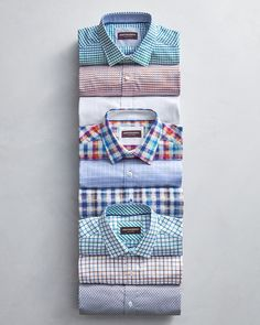 Awesome shirt pattern options from Mens Designer Shirts, Designer Suits For Men, Formal Shirts, Casual Shirts, Clothing Store Displays, White Tee Shirts, Clothing Photography, Summer Shirts, Mens Clothing Styles
