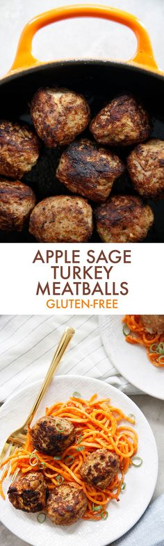 Apple Sage Turkey Meatballs (Gluten-Free) - Lexi's Clean Kitchen