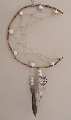 Crescent Moon Dreamcatcher by shantiwinds on Etsy cresent moon dreamcatcher tsattoo concept