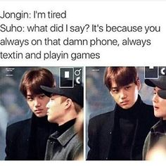 Lmao mommy suho  then there's kai like
