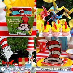 Dr. Seuss themed birthday party on a budget! via @Pizzazzerie