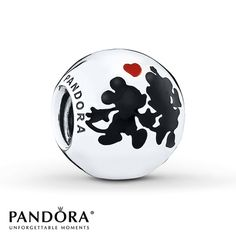 PANDORA Charm Disney, Minnie & Mickey Forever/St. Silver - $55.00