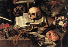 """""""The gentleman's dream"""" (le songe du chevalier)  c.1640 (détail) by Antonio de Pereda y Salgado San Fernando Royal Academy of Fine Arts Museum, Madrid"""