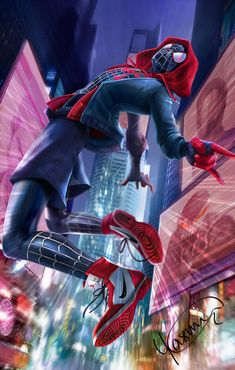 Miles Morales - Ultimate Spider-Man, Into the Spider-Verse Marvel Fanart, Marvel Comics Art, Marvel Comic Universe, Marvel Heroes, Marvel Avengers, Spiderman Marvel, Miles Spiderman, Captain Marvel, Black Spiderman