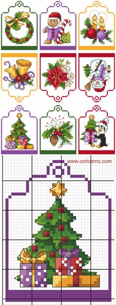 69 ideas for embroidery christmas cards Cross Stitch Christmas Ornaments, Xmas Cross Stitch, Cross Stitch Needles, Cross Stitch Cards, Christmas Embroidery, Christmas Cross, Counted Cross Stitch Patterns, Cross Stitch Designs, Cross Stitching