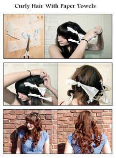 Curly Hair With Paper Towels | hairstyles tutorial
