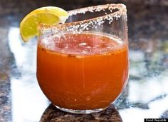 A classic Michelada is sort of like a Bloody Mary, but with beer replacing the vodka. This recipe from Food Republik also has TOBASCO SAUSE, Worcestershire sauce, LIME JUICE and red pepper flakes. It's a drink for the traditionalist.