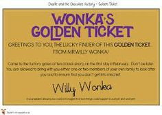charlie and the chocolate factory printables - Google Search