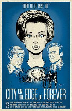 """""""City on the Edge of Forever"""" - Star Trek episode written by Harlan Ellison Star Trek Books, Star Trek Tv, Star Wars, Star Trek Original Series, Star Trek Series, Tv Series, Fiction Movies, Science Fiction, Star Trek Posters"""