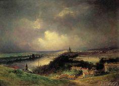 John Constable - Flußlandschaft