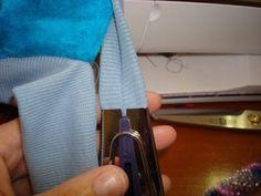 Anleitung für das Nähen mit Schrägbandformer (Bündchenware)