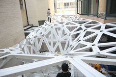 construction of the minimal tension canopy - Grasshopper