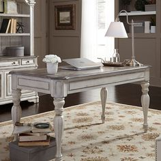 Magnolia Manor Writing Desk – Chic Home Office Design Home Office Desks, Home Office Furniture, Cool Furniture, Office Decor, Rustic Furniture, Antique Furniture, Office Ideas, Office Designs, Furniture Ideas