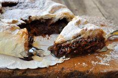 Torta con pasta sfoglia nutella e mascarpone