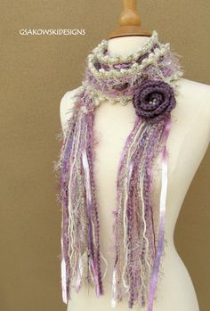 Gloria ScarfLavender nr 2 by gsakowskidesigns on Etsy, $45.00