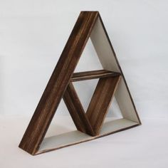 Trouva: Something Different Wooden Triangle Shelf