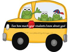 Fabulous 4th Grade Froggies: See how much your students know about you, Clipart, Winner and more...