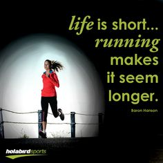 Ha Ha Ha!!  That 30 or 40 minutes of running does seem pretty long when you are doing it...