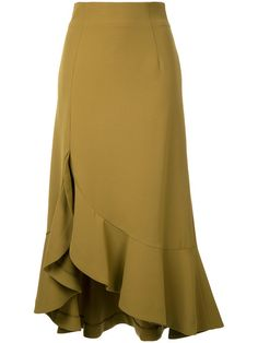 Explore the designer skater skirts edit at Farfetch. Find designer flared skirts & A line skirts from a range of coveted luxury labels. Muslim Fashion, Modest Fashion, Hijab Fashion, Fashion Dresses, Blouse And Skirt, Dress Skirt, Ruffle Skirt, African Dress, Skirt Outfits