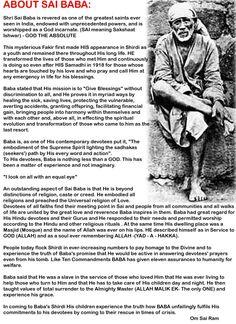 About Sai Baba