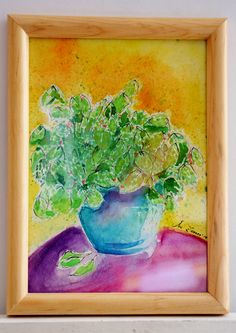 """""""From our garden"""" Watercolour on paper 30 X 25 cm 2014 $400 MXN 20 USD"""