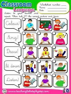 Classroom Language - Worksheet 2
