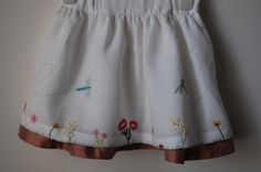 To emphasize the embroidery I took very very high quality cotton and I put a lot of attention at the stitching and sewing (no errors allowed) Stitching, Kids Fashion, Organic, Embroidery, Sewing, Skirts, Cotton, Costura, Couture