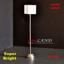Tulip table LED LAMP Dollhouse miniature light battery on//off 1:12 SILVER bright