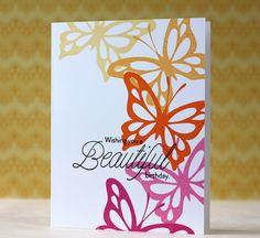 Beautiful Birthday Card by Laura Bassen for Papertrey Ink (May 2014)