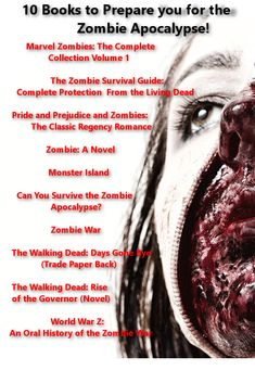 With summer close at hand, so is zombie season! Check out these 10 books that will surely help you out smart the walking dead! Zombie Survival Guide, Pride And Prejudice And Zombies, Horror Books, Fear The Walking Dead, Zombie Apocalypse, Love Book, Novels, Tv, Reading