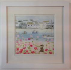 #Hannah cole mini print picture #summer breeze seaside dog flowers boats #harbour,  View more on the LINK: http://www.zeppy.io/product/gb/2/262686780808/