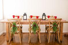 Vacaciones tablescape porción Encantadores pequeños Detalles, foto De jessica burke