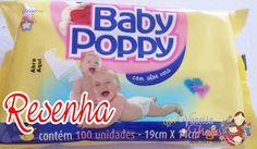 Resenha: Lenços Baby Poppy  ( Embalagem com 100 un.)