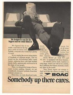 BOAC British Airways Design Seat Biggest Man (1969)
