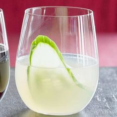 A winning combination of cucumbers, ginger, and radishes keeps this champagne cocktail crisp and cool, making it a great drink recipe for hot weather.