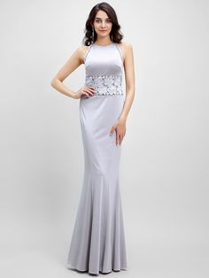 TS Couture® Formal Evening Dress Trumpet / Mermaid Jewel Floor-length Jersey with Lace - USD $119.99