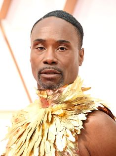 13 Must-See Beauty Looks From the 2020 Oscars Red Carpet — Billy Porter Modern Updo, Matte Red Lips, Subtle Ombre, Bold Brows, Platinum Hair, Nude Lip, Celebrity Beauty, Old Hollywood Glamour, Fresh Face