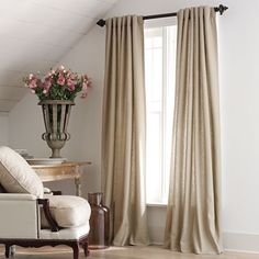 American Living Highfield Linen-Blend Back-Tab Drapery Panel - jcpenney. These would work nicely in our bedroom.