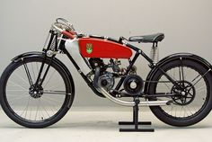 """According to the Bonhams auction notes, """"Ear-splittingly noisy, the supercharged split-single 'Deeks' eventually overcame reliability problems to become the dominant force in 250cc racing in the late 1930s."""" This bike was discovered in East Germany, and has a 175cc motor, probably built around 1929. The rest of the bike was put together later, """"at a time when they were using bits of broken Messerschmitts to fix motorcycles."""""""