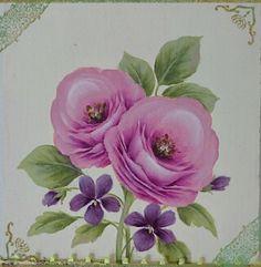 第7回 トールペイントカーニバル展 in 広島福屋八丁堀本店 8階 催場5月12日(木)~5月17日(火)LilyBright & 石田和美でブースに参加します。第26回 JDPA大阪コンベンショングランキューブ大阪6月2日(木)~6月4 Acrylic Painting Flowers, One Stroke Painting, China Painting, Tole Painting, New Tattoos, Folk Art, Beautiful Flowers, Hand Painted, Rose