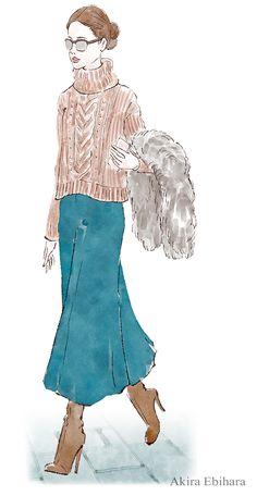 蛯原あきら Akira Ebihara Client: Yahoo! Japan Yahoo Japan, Bell Sleeves, Bell Sleeve Top, Akira, Artworks, Ruffle Blouse, Illustration, Tops, Women