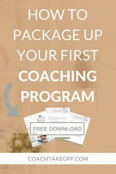 Learn how to create your first coaching program, package up your services, price your services/calculate your hourly rate, and get paying clients when you're just starting out as a new online coach in business (with a free download).