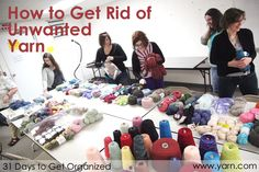 When you need to find a new home for yarn, what do you do with it? Do you have a favorite person or charity you like to give yarn to?