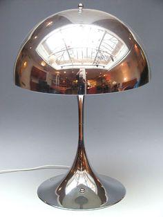 Chrome Mushroom Lamp | Verner Panton