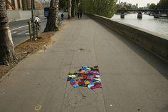 Pothole Art Intervention Yarn Bombing by Juliana Santacruz Herrera