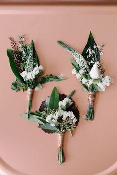 Copper + green industrial modern wedding inspiration