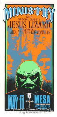 1996 Ministry Concert Handbill by Mark Arminski (MA-9618)