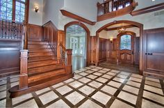 Victorian Gothic style mansion interior, great site for ideas on my dream house. Gothic Interior, Mansion Interior, Interior Styling, Interior Decorating, Beautiful Homes, Beautiful Places, My Dream Home, Dream Homes, English Manor