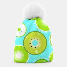 Sweet Beanie with WONDERFUL GREEN KIWI Unique Image, Beanies, Kiwi, Make It Yourself, Creative, Sweet, Shop, Prints, Design